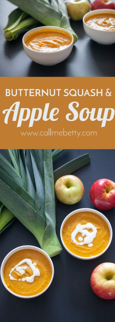 This butternut squash and apple soup recipe is perfectly rich, warm, and comforting for the fall and winter. The best part is that it's almost all veggies including squash, carrots, leeks, and an apple for added sweetness.