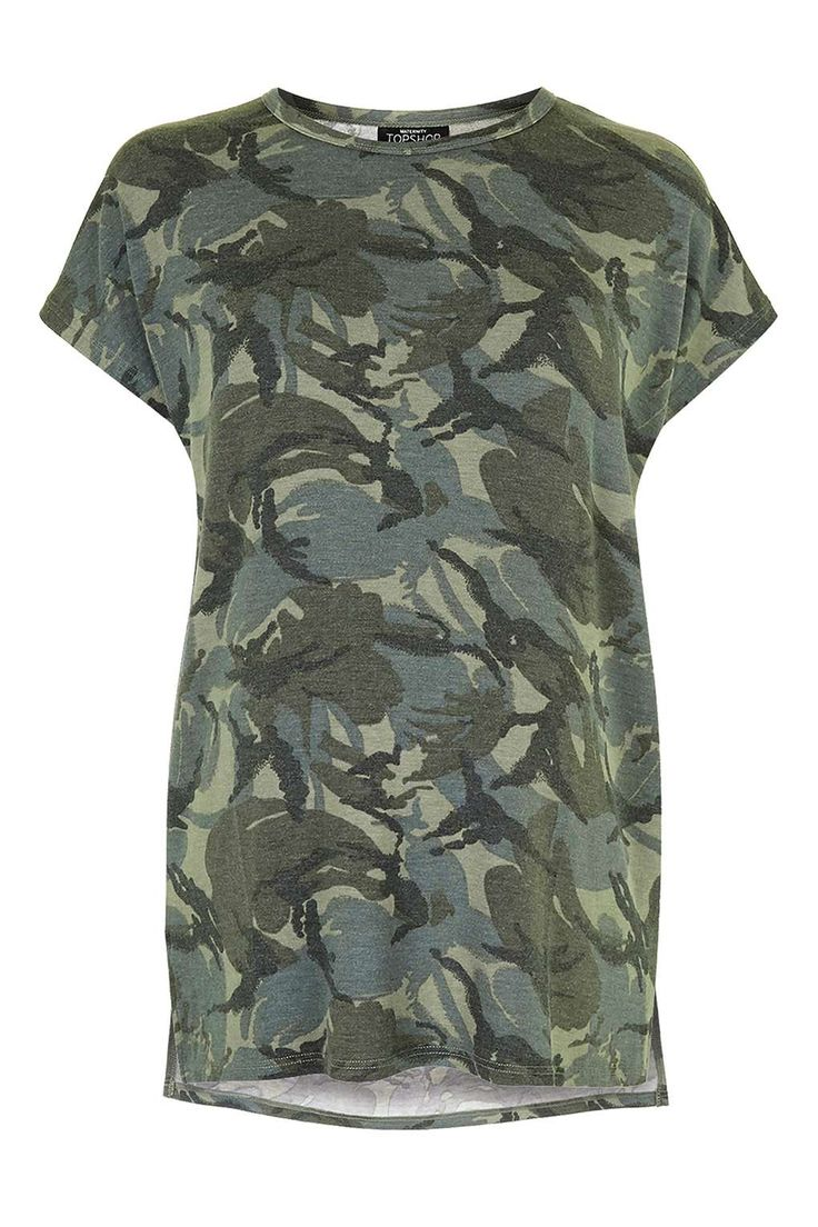 MATERNITY Washed Camo Tee - Tops - Clothing - Topshop