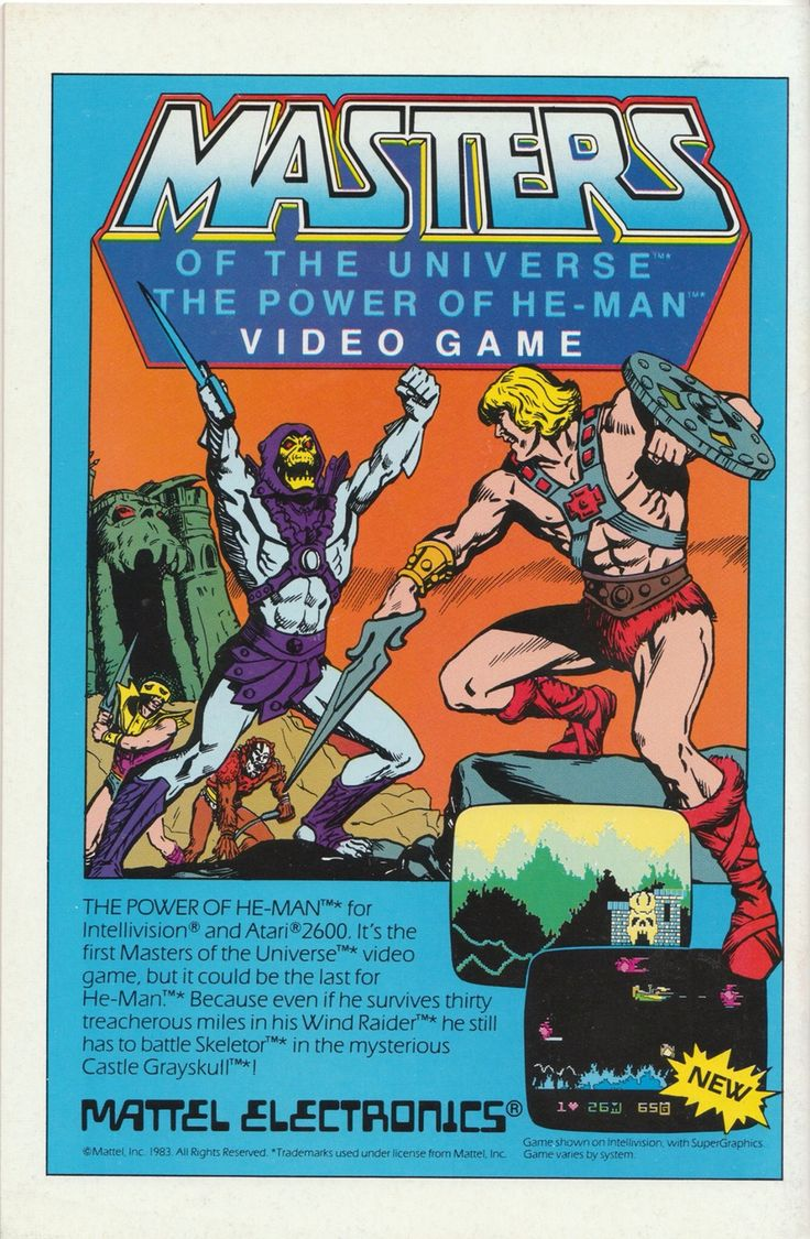 1983 atari masters of the universe video game ad