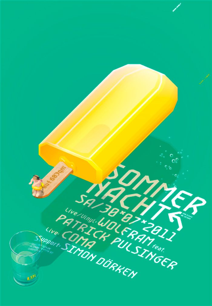 Great poster for a summer festival. — via Design made in Germany