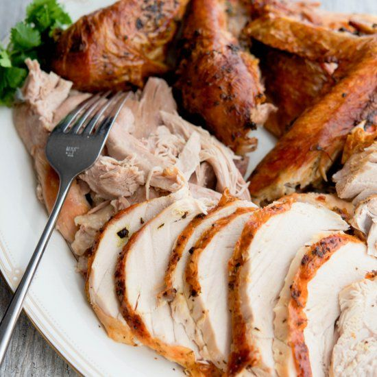 Helpful tips on preparing your first Thanksgiving turkey plus a recipe for Butter & Herb Roasted Turkey.