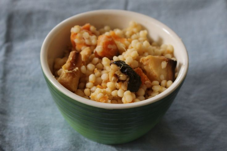 israeli couscous and roast vegetables