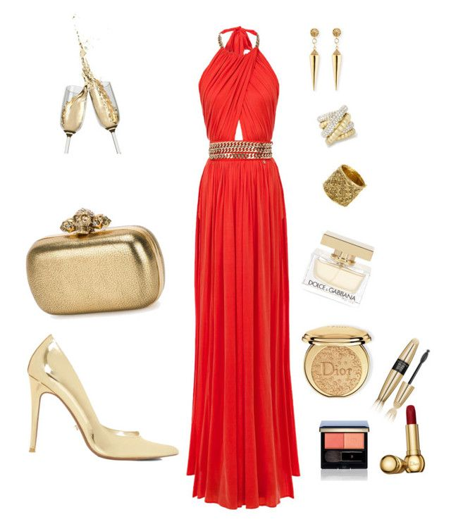 Orange And gold outfit by Diva of Cake  featuring polyvore мода style Dune Alexander McQueen Sydney Evan Chanel Clé de Peau Beauté Christian Dior Dolce&Gabbana Victoria's Secret fashion clothing