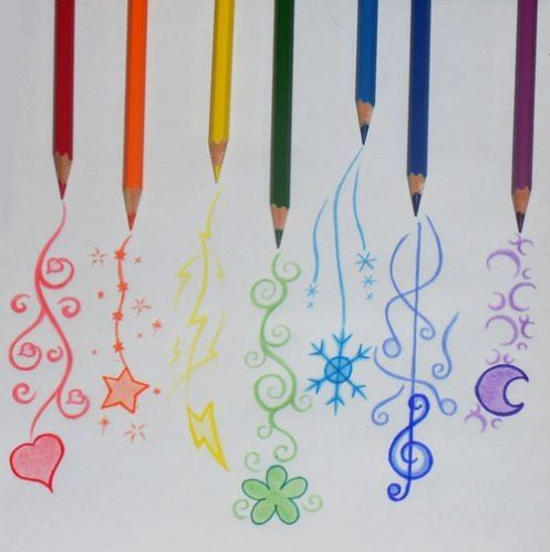 art, colored pencils, cute, drawing, pencils, rainbow - image ...