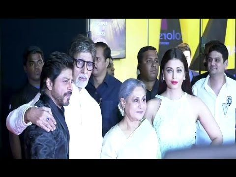 Shahrukh Khan, Aishwarya Rai & Amitabh Bachchan At Sansui Stardust Awards 2016.