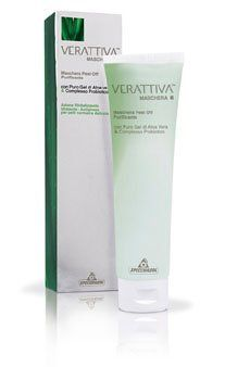Verattiva Purifying Peel-off Mask, 3-ounce by Verattiva. $5.03. With Probiotics complex. For Normal and Delicate Skin. With Aloe Vera. Purifying Peel-Off Mask is part of a line of treatments for the face and provides high-tech solutions to combat problems that affect the skin of the face. The product has been specially formulated to trigger the skins active functions, and then it forms an inert film that is removed to eliminate facial impurities, leaving the skin so...