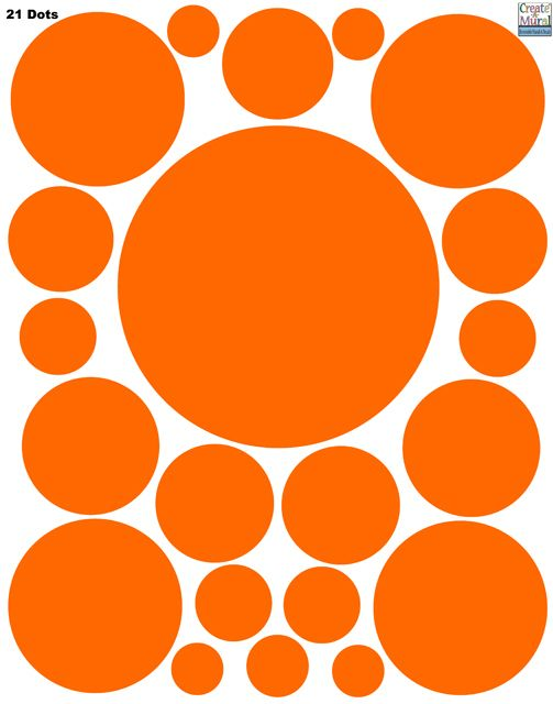 Create-A-Mural - Polka Dot Decals-  Orange Wall Stickers, $7.99 (http://www.create-a-mural.com/products/polka-dot-decals-orange-wall-stickers.html)