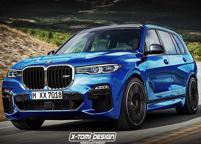 600 Hp Seven Seat Bavarian Suv Anyone This X7 M Rendering