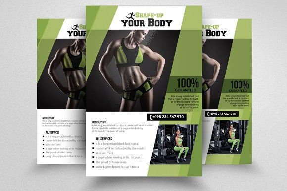 Fitness Gym Psd Flyer Templates By Design Up On Creativemarket