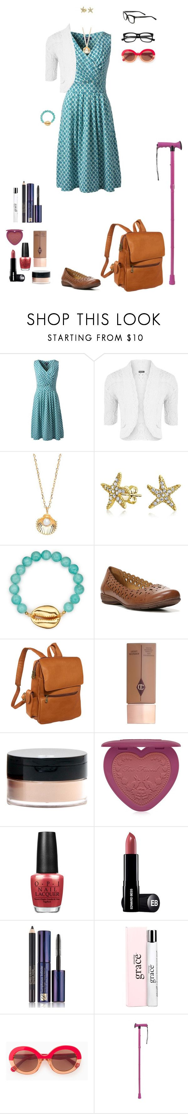 """""""casual Friday, summer (Aoife, AU)"""" by shulabond on Polyvore featuring Lands' End, WearAll, Estella Bartlett, Bling Jewelry, Pembe Club, Naturalizer, Le Donne, Charlotte Tilbury, Too Faced Cosmetics and OPI"""
