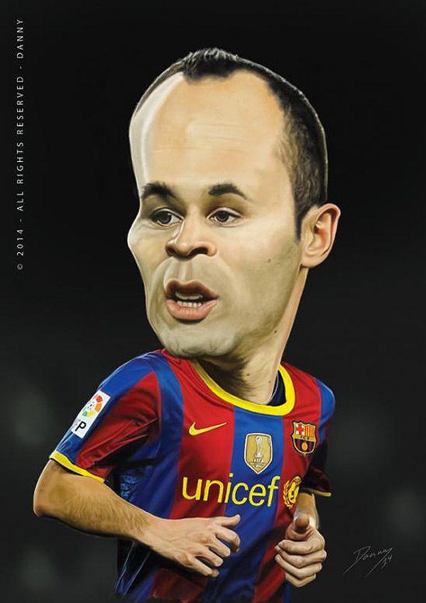 Caricatura de Andrés Iniesta | Caricatures - Sports in ...