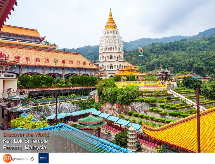 Also known as the Temple of Supreme Bliss, Kek Lok Si is said to be the largest Buddhist temple in Southeast Asia, and arguably one of the most famous in Penang.  #onlinebookingsystem #FIT #KekLokSi #Temple #SupremeBliss #Penang #Malaysia #Buddhisttemple #discovertheworld #instadaily #todayspost #view #viewoftheday #views #picoftheday #DorakHolding #GB #GlobalBeds