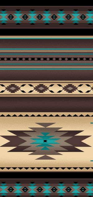 Native Saddle Blanket-Sepia