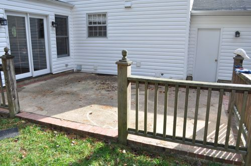 1000 ideas about patio railing on pinterest deck bar for Concrete patio railing