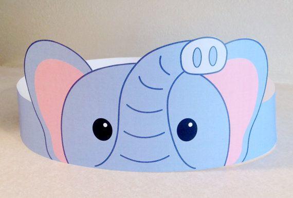 Elephant Paper Crown Printable por PutACrownOnIt en Etsy