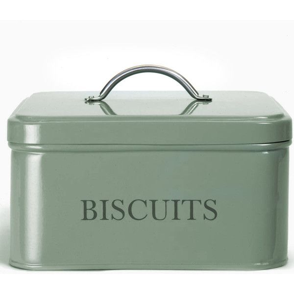 This square biscuit tin from Garden Trading is rustic in style and features a chrome handle. It features a rubberised seal, perfect for keeping your cookies fr…