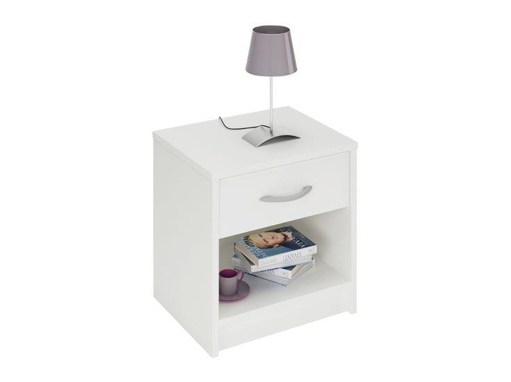 ISA Sängbord 37 Vit i gruppen Inomhus / Sängar / Sängbord hos Furniturebox (100-56-73129)