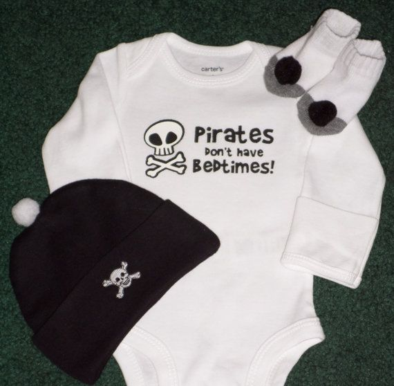 Newborn Baby Boy Gift Sets  Pirates Don't Have by SugarBearHair