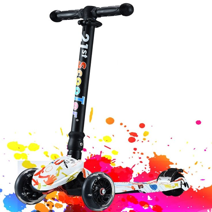 109.33$  Watch now - http://aliwqp.worldwells.pw/go.php?t=32753910187 - Best Scooters For Sale 3 Wheel Scooter Foldable For Kids Boys Girls 2-16 Year Old Full Flashing PU Wheel 109.33$