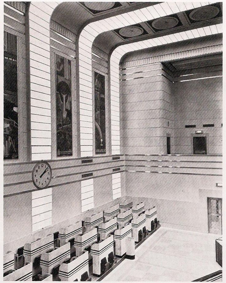 Art Deco Toronto Stock Exchange Trading Floor. @designerwallace
