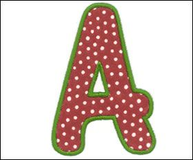 Free Applique Patterns Download | Embroidery Arts | Monogram Styles | Applique 1