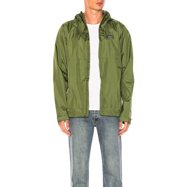 Patagonia Torrentshell Jacket (€115) ❤ liked on Polyvore featuring men's fashion, men's clothing, men's outerwear, men's jackets, coats & jackets, mens short sleeve jacket, patagonia mens jacket and mens zip jacket