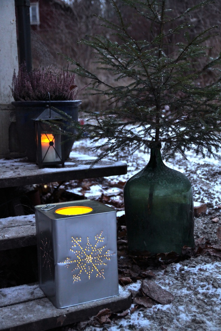 Rebeccas DIY: DIY: Stor burklykta * Extra large tin can lantern