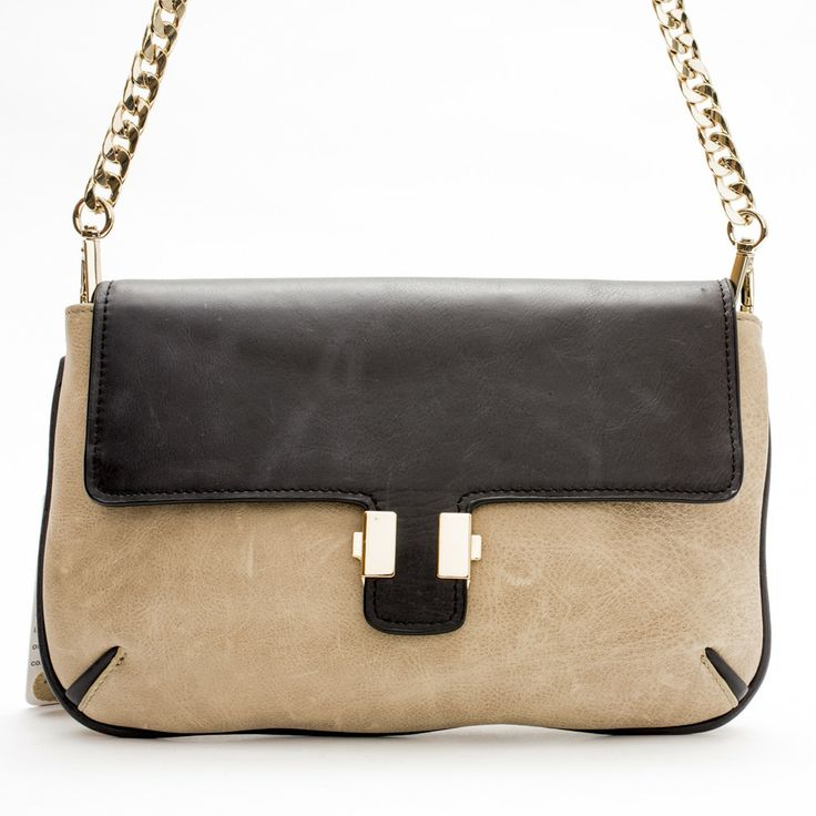 Juliet Clutch/ Sling Bag (Biscuit/Black) by Pink Corporation | ilovehandbags.com.au