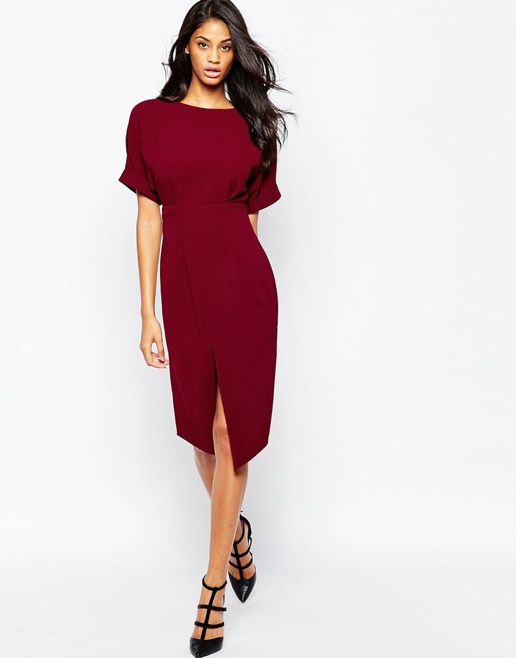 ASOS+Wiggle+Dress+with+Split+Front