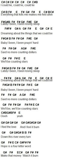 Flute Sheet Music: Counting Stars
