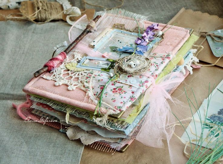 shabby chic mini journal