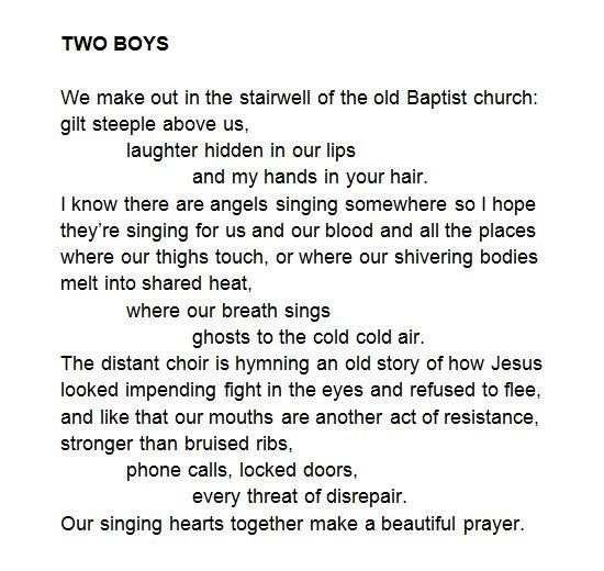 Two Boys by Keaton St. James http://boykeats.tumblr.com/post/133755422317/