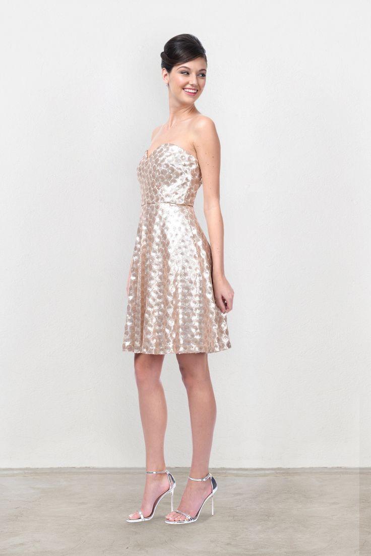 Weddington Way Poppy Bridesmaid Dress in Gold