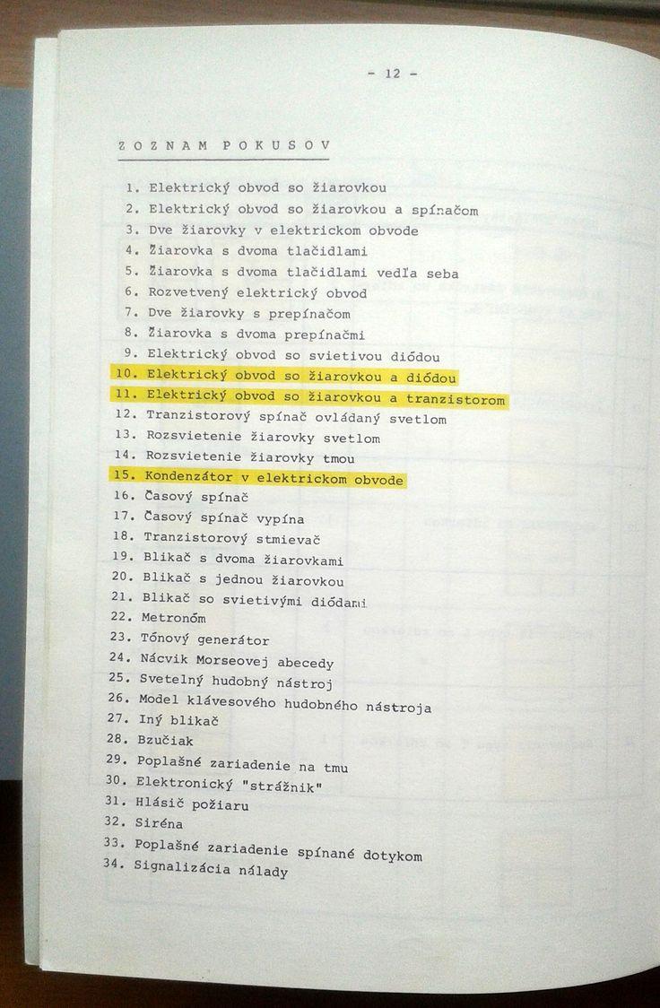 Nvod Manual 8 best Elektronick stavebnica