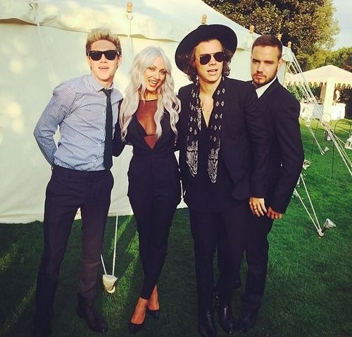 Lou, Harry, Liam and Niall at the wedding.