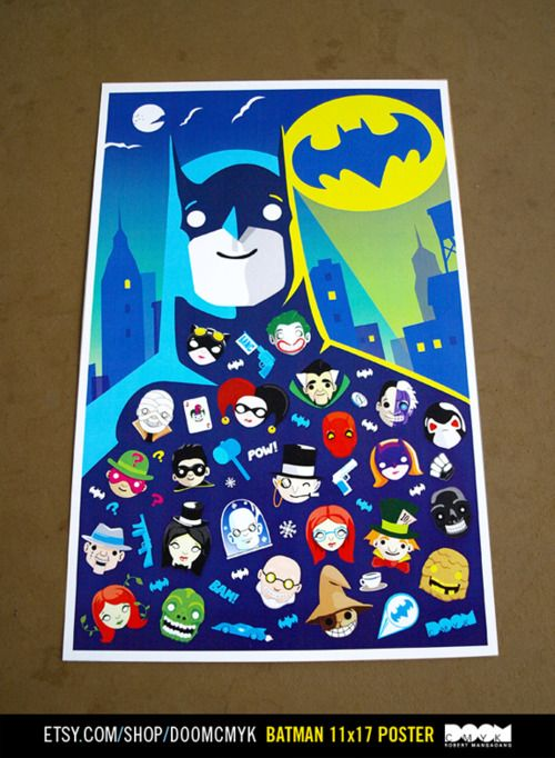 Batman Cartoon Style fan art poster. Available at: http://www.etsy.com/shop/DoomCMYK
