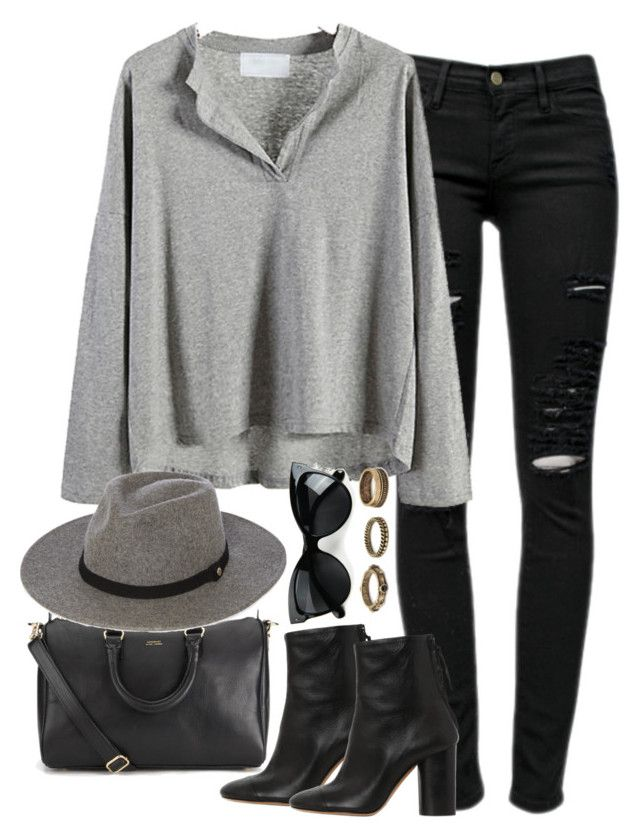 Untitled #608 by weyheytati on Polyvore featuring Frame Denim, Isabel Marant, Sandqvist, Forever 21 and Whistles