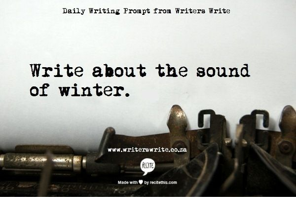 The muffled crunch of crisp snow; the tinkle of metal and glass bells. | Writing Prompt from Writers Write.