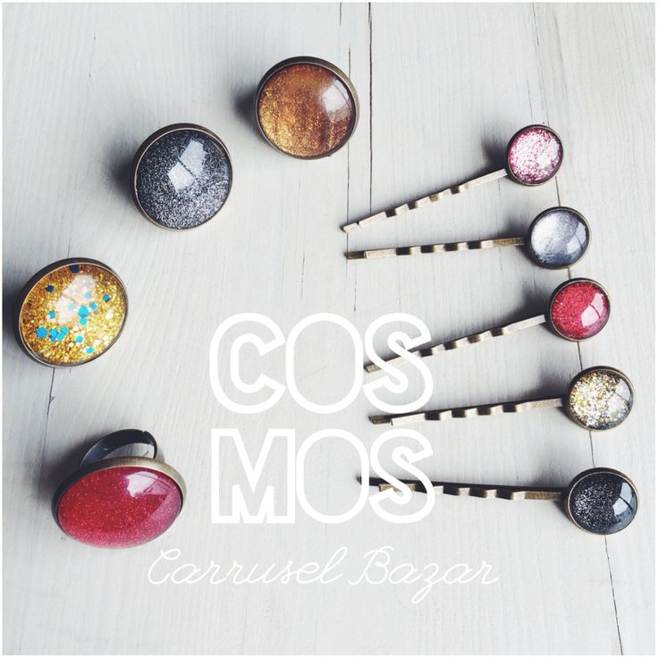 Cosmos rings and bobbi pins available at carruselbazar.bigcartel.com