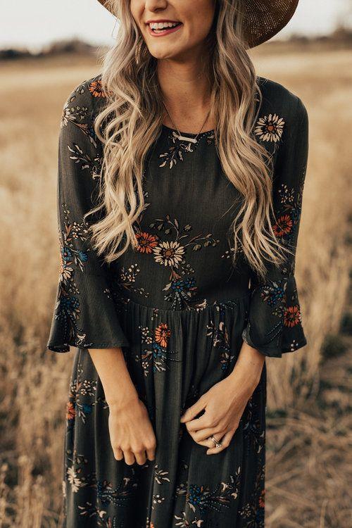 25+ cute Floral midi dress ideas on Pinterest