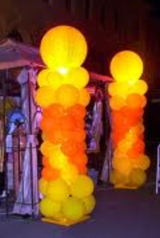 how to put twist on led lights in balloons