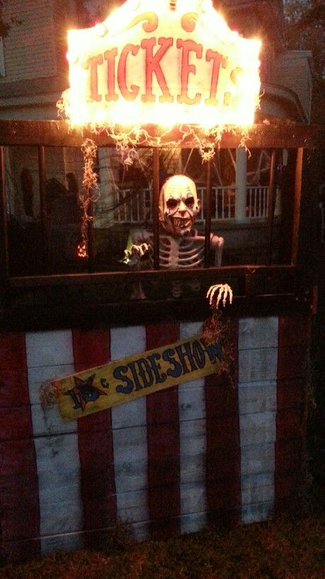 Creepy carnival side show ticket booth build. Halloween decor / haunted house