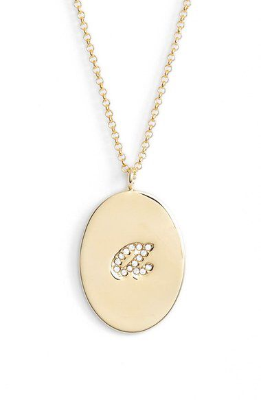 kate spade new york kate spade new york 'initial thoughts' initial pendant necklace available at #Nordstrom