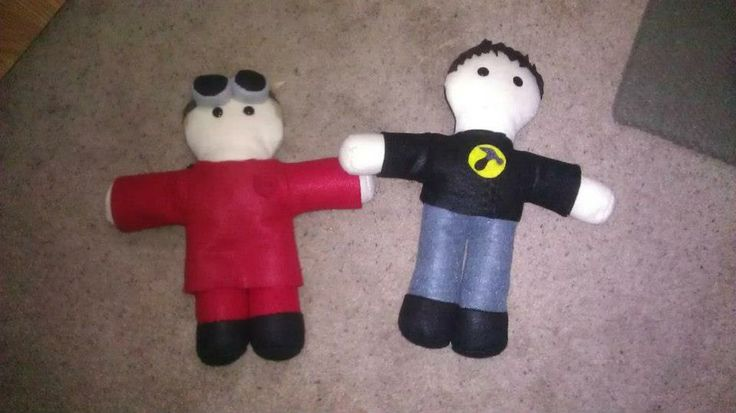 Dr Horrible and Captain Hammer plush
