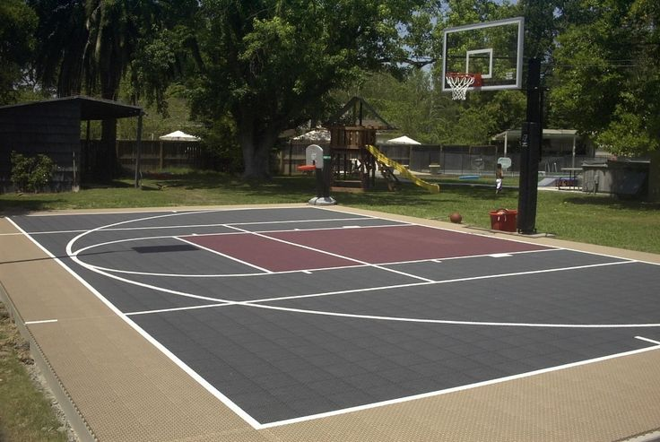 25 best ideas about backyard basketball court on for Outdoor basketball court template
