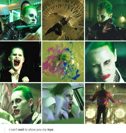 Joker in Suicide Squad//Looks pretty cool