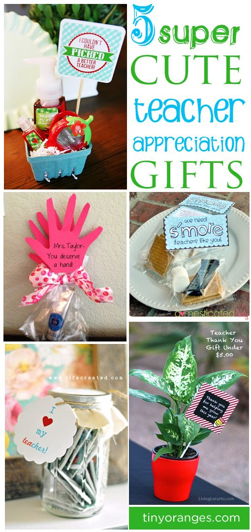 May is Teacher Appreciation Month! Here are 5 Teacher Appreciation Gift Ideas from tinyoranges.com to help show your love for your teachers!