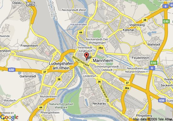 google+images, Map of Holiday Inn Mannheim City Centre, Mannheim, Germany