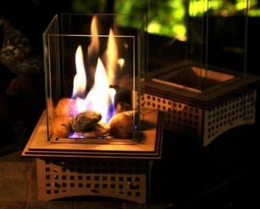 Perfect Heater for Winter Tabletop Glass Fireplace