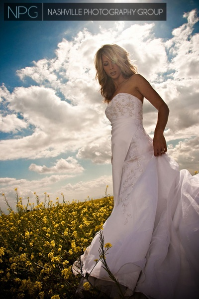 #Outdoor #bridal and wedding portraits by #NashvillePhotographyGroup